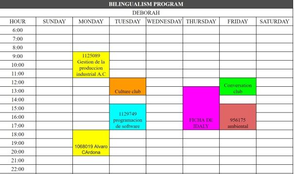 Daily Schedule SENA